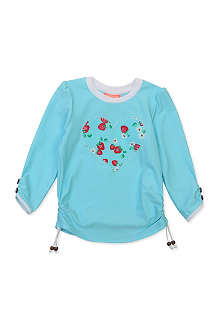 SUNUVA Strawberry heart rash vest 1-12 years