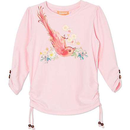SUNUVA Bird paradise rash vest 1-12 years (Pink