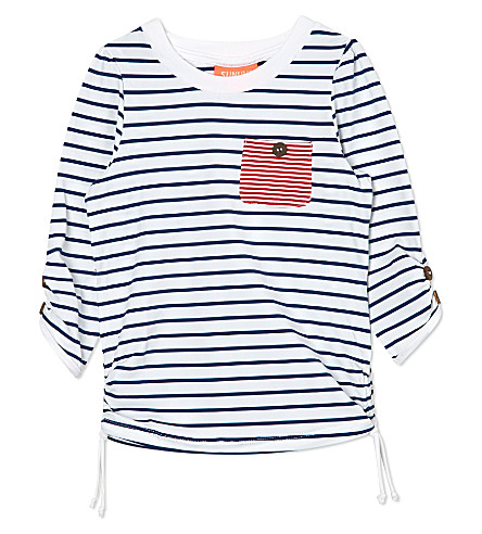 SUNUVA Striped rash vest 1-12 years (Blue / white stripe