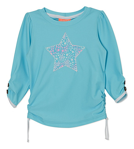 SUNUVA Starburst rash vest 1-12 years (Aqua