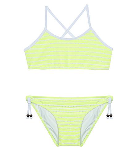 SUNUVA Scallop stripe neon bikini 3-14 years (Yellow