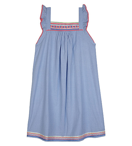 SUNUVA Carnival cotton smock dress 3-14 years (Blue