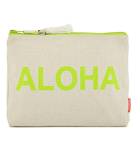 SUNUVA Aloha cotton wash bag (Neon