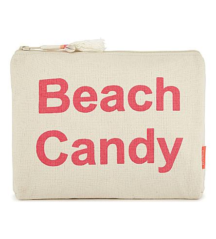 SUNUVA 海滩糖果棉洗袋 (粉红色