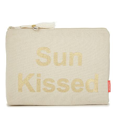 SUNUVA 'Sun Kissed' cotton wash bag (Gold