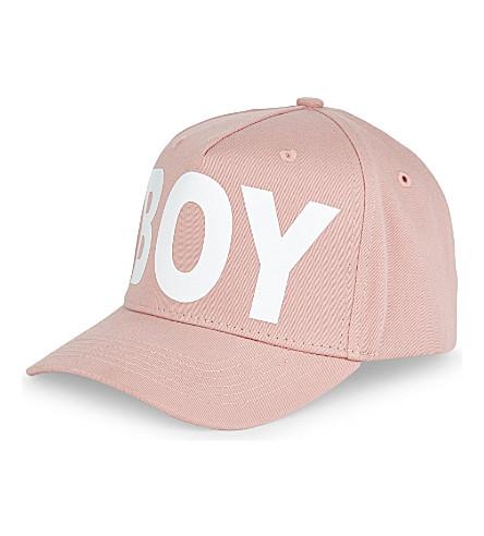 BOY LONDON Logo cotton cap (Pink/white