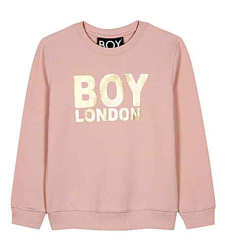 BOY LONDON Logo cotton sweatshirt 3-12 years (Pink/gold