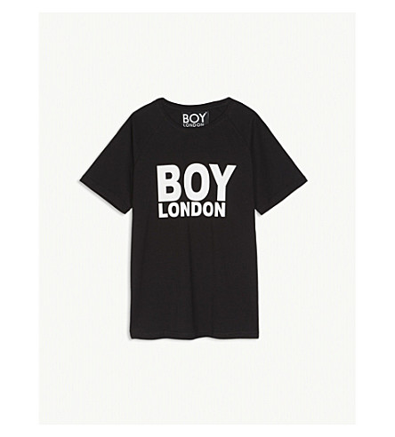 BOY LONDON Logo cotton short-sleeve T-shirt 13-16 years (Black/white