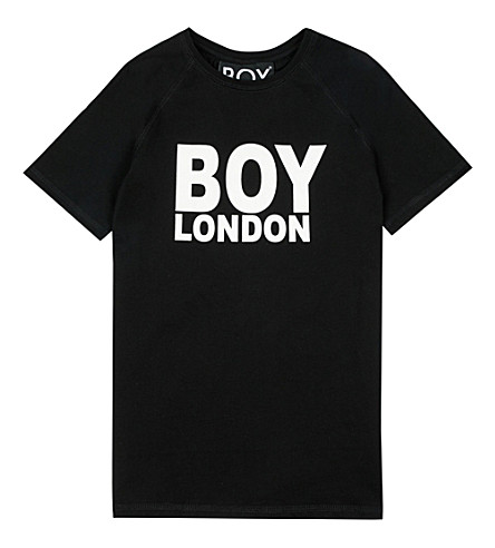 BOY LONDON Logo cotton T-shirt 3-12 years (Black/white