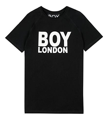 BOY LONDON Logo cotton T-shirt 3-12 years (Black/white