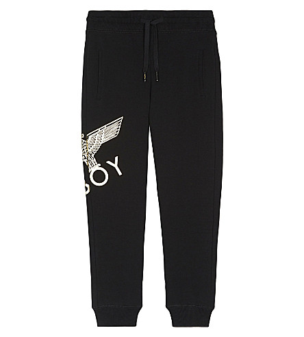 BOY LONDON Eagle cotton tracksuit bottoms 3-12 years (Black/gold