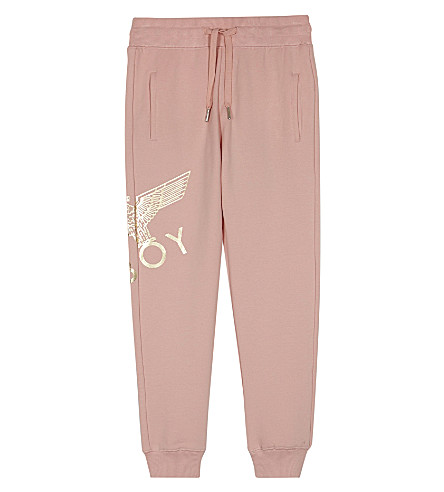 BOY LONDON Eagle cotton tracksuit bottoms 3-12 years (Pink/gold