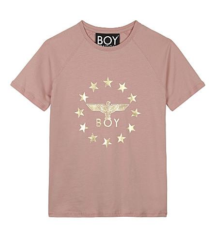 BOY LONDON 鹰星棉 T 恤 3-12 岁(粉红色/金色