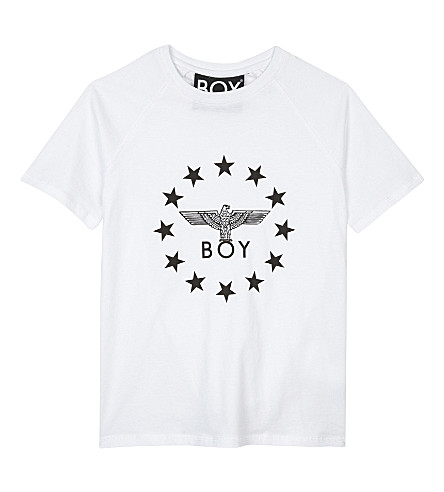 BOY LONDON Globe star logo cotton T-shirt 3-12 years (White/black