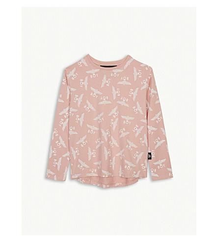 BOY LONDON Eagle logo cotton long sleeve T-shirt 3-16 years (Pink