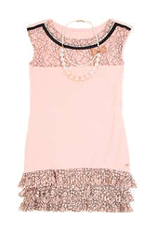 SUPERTRASH Pearl necklace lace dress 4-16 years