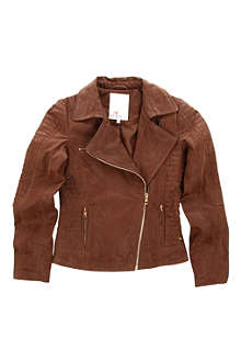 SUPERTRASH Suede biker jacket 6-14 years