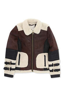 SUPERTRASH Olammy faux-shearling jacket 4-16 years