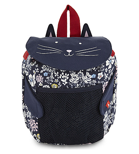 JOULES Cat and flower print backpack (Cat