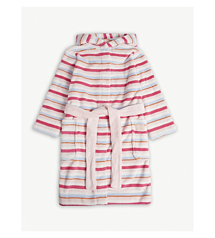 JOULES - Striped hooded robe 5-12 years  b8959dd00