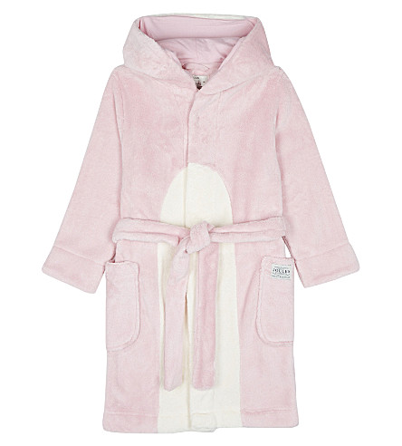 JOULES Penguin dressing gown 4-12 years (Rose+pink+penguin