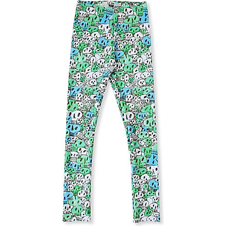 LA LOI Skull leggings 2-10 years (Blue