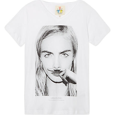 ELEVEN PARIS Cara v-neck t-shirt 4-14 years (White