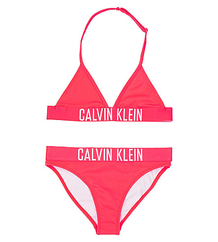 CALVIN KLEIN Triangle bikini 4-16 years (Hot pink
