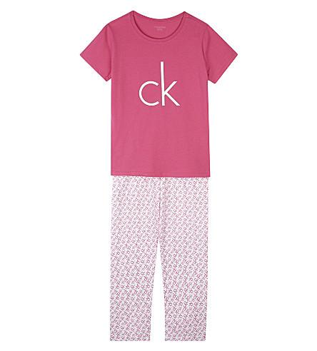 CALVIN KLEIN Modern Cotton logo pyjamas (Pink