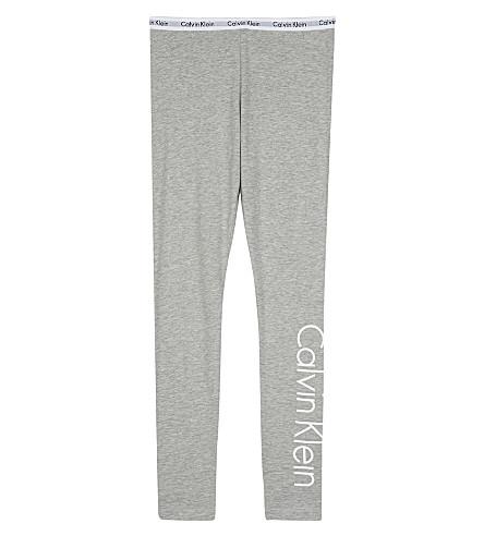 CALVIN KLEIN Logo print leggings 4-16 years (Grey
