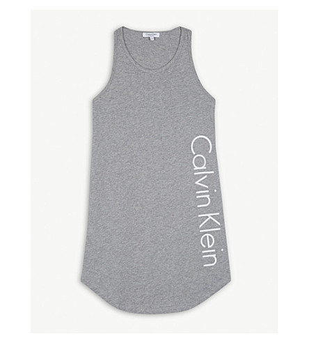 CALVIN KLEIN Jersey cotton dress 4-16 years (Grey+heather