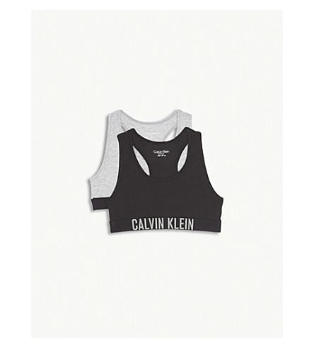 CALVIN KLEIN Intense Power bralettes pack of two (Grey+heather/black