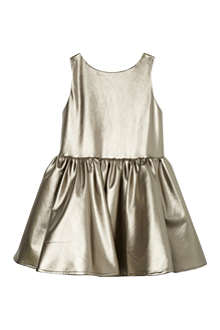 MARY MAZALY Leather look metallic dress 4-12 years