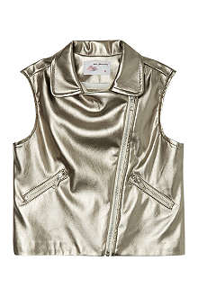 MARY MAZALY Metallic gillet 6-12 years