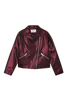 MARY MAZALY Adamy metallic biker jacket 4-12 years