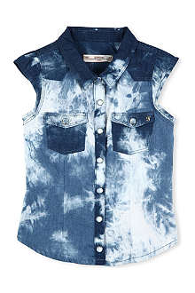 SUPERTRASH Tie-dye denim top 4-16 years