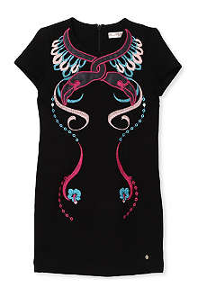 SUPERTRASH Flamingo embroidered dress 4-16 years