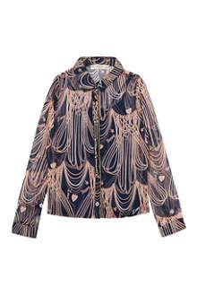 SUPERTRASH Bacia chain print blouse 4-16 years