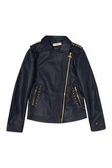 SUPERTRASH Studded leather jacket 4-16 years