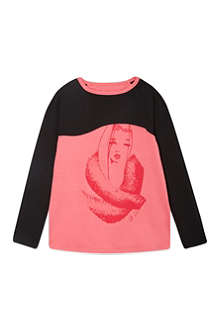 SUPERTRASH Thirza face print t-shirt 4-16 years