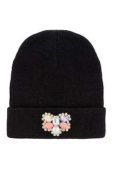 SUPERTRASH Adah jewel trim beanie