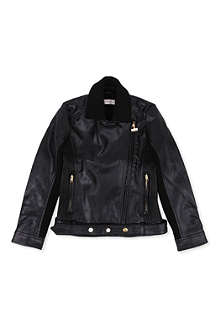SUPERTRASH Faux-leather biker jacket 4-16 years