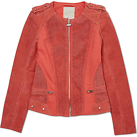 SUPERTRASH Suede jacket 4-16 years (Coral