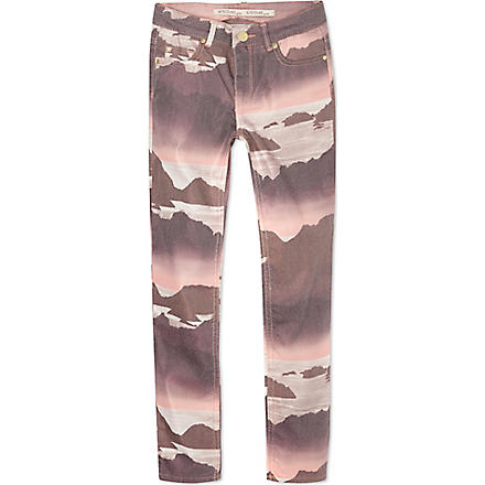 SUPERTRASH Landscape jeans 4-16 years (Coral/multi