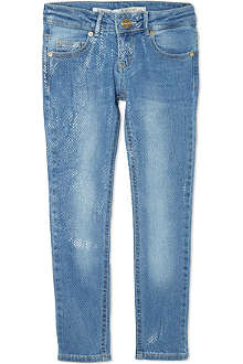 SUPERTRASH Snake-print stretch-cotton jeans 4-16 years
