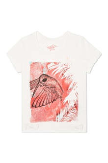 SUPERTRASH Bird graphic t-shirt and necklace 4-16 years
