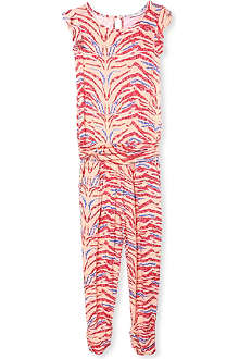 SUPERTRASH Tiger-print jumpsuit 4-16 years