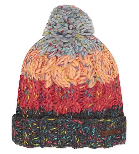 BARTS BV Sandy striped knitted beanie 4-8 years (Dark+heather+grey