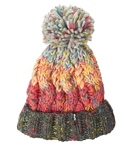 BARTS BV Sandy striped knitted beanie 4-8 years (Dark+heather