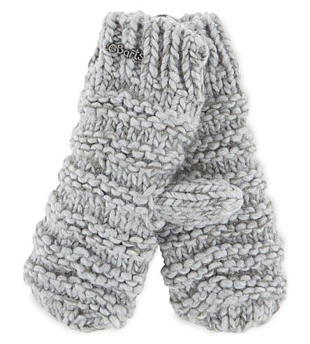 BARTS BV Tara knitted mittens 4-8 years (Heather+grey